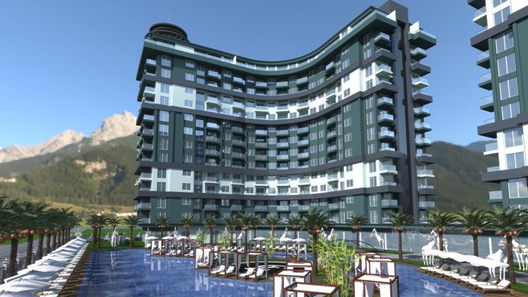 Новый проект класса люкс «Serenity Residence» Махмутлар, Аланья, Турция