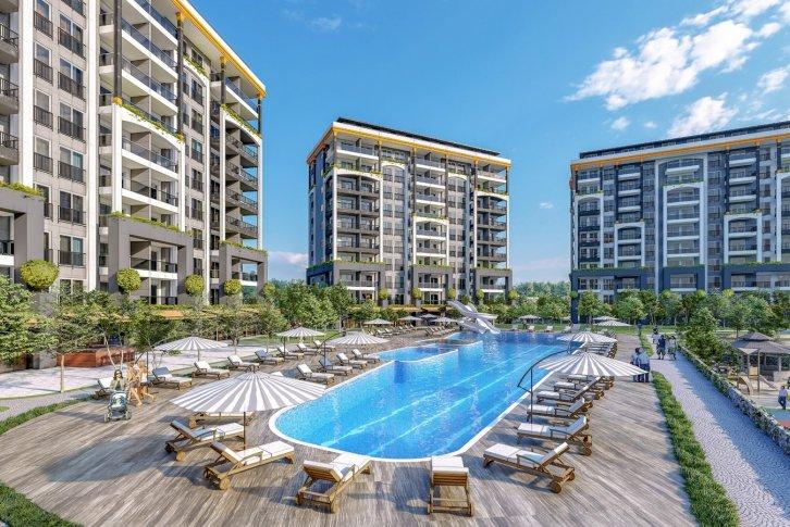 «Emerald Paradise residence»-Авсаллар, Аланья, недвижимость в Турции