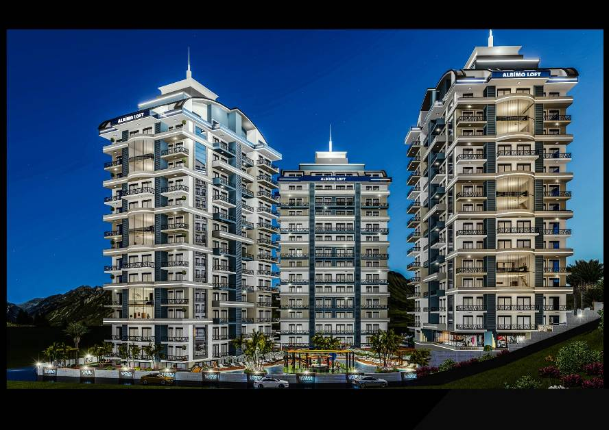 Новый элитный комплекс «Albimo Loft» в районе Махмутлар, Аланья, Турция