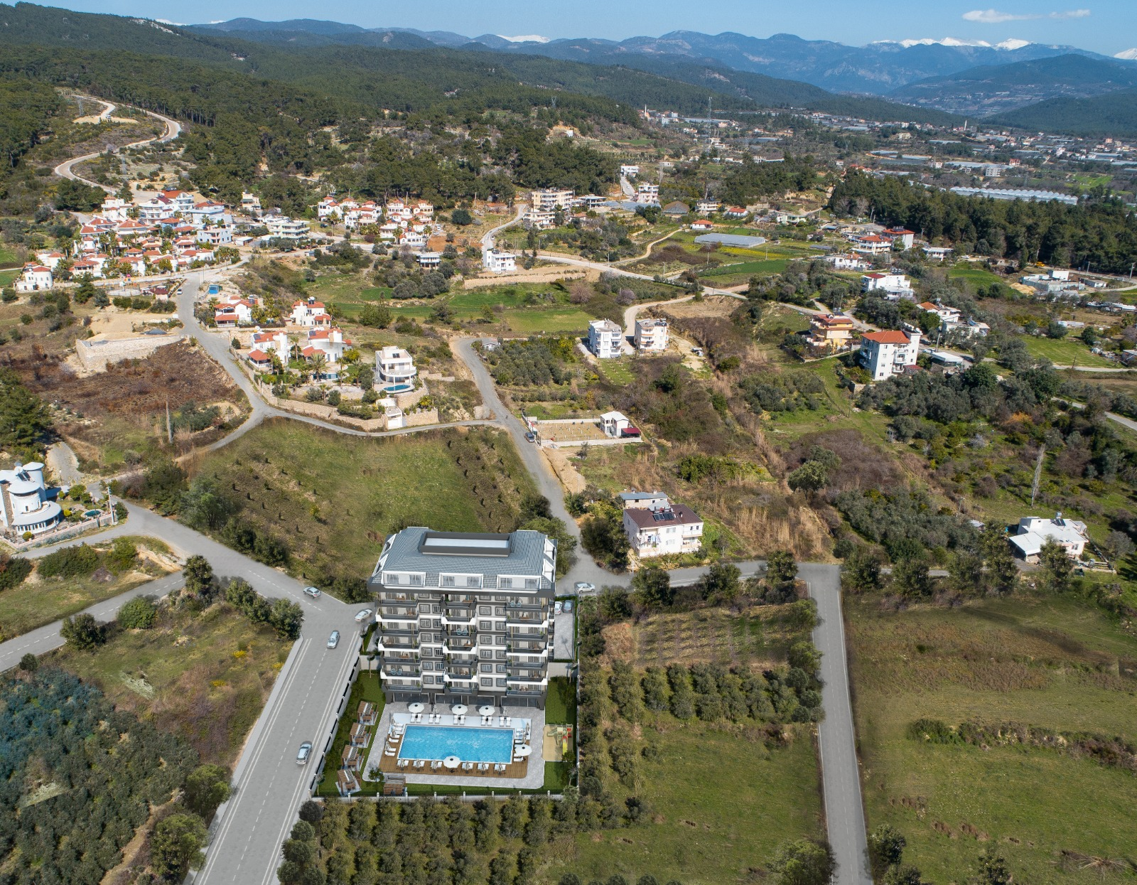 Новый жилой комплекс — Авсаллар, Аланья, Турция
